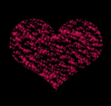 Symbol  of red heart over dark background (Saint Valentine s day) photo