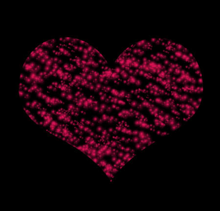 saint valentine   s day: Symbol  of red heart over dark background (Saint Valentine s day)