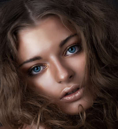 Beauty and health, cosmetics and make-up  Portrait of fashion woman model photo