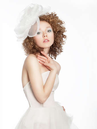 Bride young beauty portrait  Wedding dress and accessories photo