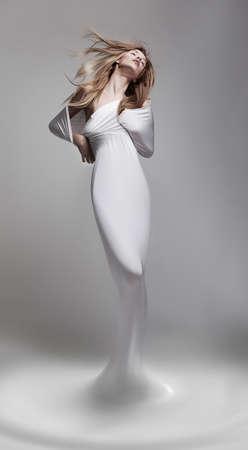 body milk: Creativity  Revival  Venus woman aphrodite in fantastic pose - fantasy