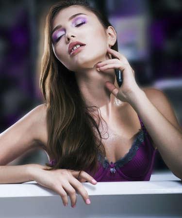 Relax. Sexy luxurious woman on bath in bathroom interior - spa salon concept Stock Photo - 16318954
