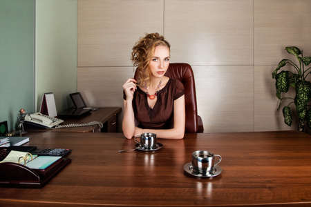 Serious businesswoman consultant in modern office interior Stock Photo - 16536688