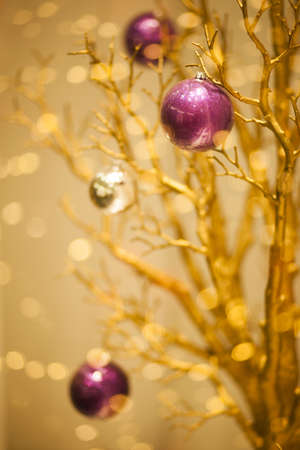 Gold Merry Christmas Winter Background - X-mas art Design photo