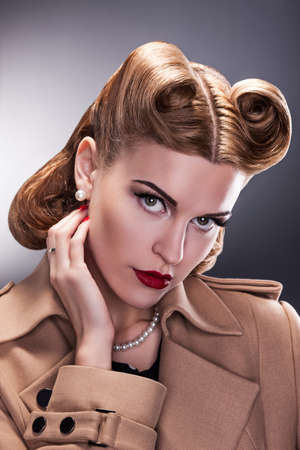 Nostalgy - Aristocratic Woman with Retro Hairstyle Stock Photo - 16854860