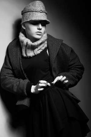 Elegant woman - Trendy Cap - Old-fashioned Clothing Stock Photo - 16854814