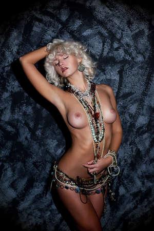 Beautiful Woman Blond Hair - nude Body. Harmony. Passion Stock Photo - 16905695