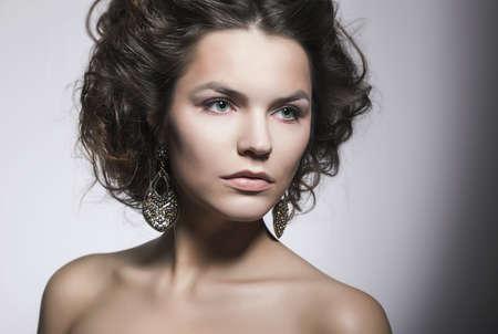 Sensual Girl Beauty Portrait - Natural Makeup. Perfect Model Stock Photo - 16953795