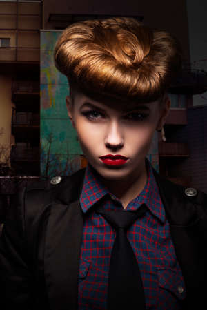 Fantasy  Trendy and Classy Girl Portrait  Glamour Stock Photo - 17128341