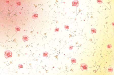 Abstract Elegant Seamless Pattern - Floral Background with Pink Roses Stock Photo - 17468377