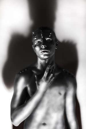 tempter: Creativity. Black and white Fashion Man - Platinum Torso