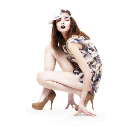 nifty: Lifestyle  Glam  Nifty Ultramodern Woman sitting in Heels  Fashion   Glamor