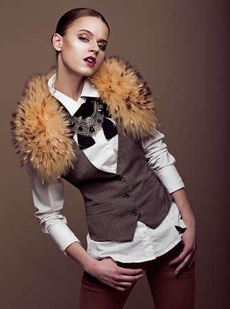charisma: Charisma  Aristocratic Stylish Fashion Model in Modern Apparel  Elegance