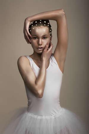 bronzed: Glamor  Artistic Extravagant Woman  Trendy Bronzed Makeup