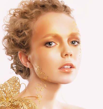 Styled Golden Woman photo