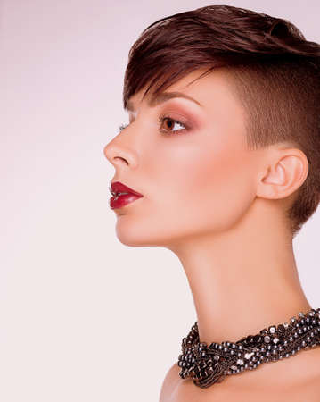 Neatness  Profile of Imposing Short Hair Woman  Bob Haircut photo