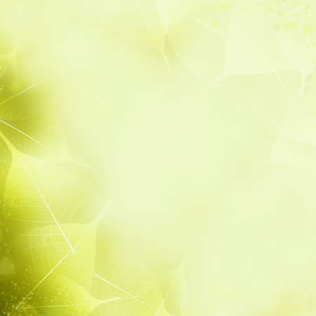 Seamless Yellow - Green Leaves Pattern  Foliage Ornament photo