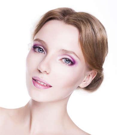 f�minit�: F�minit� Face of Sensual Caucase femme joli sourire Banque d'images