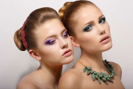 Sensuality. Two Romantic Young Women Girlfriends dating. Desire & Passion Stock Photo - 19029211