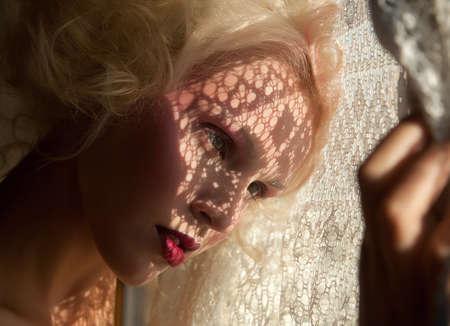 Nostalgia  Fondness Genuine Serene Blond Woman in Reverie  Affection Stock Photo - 19120953