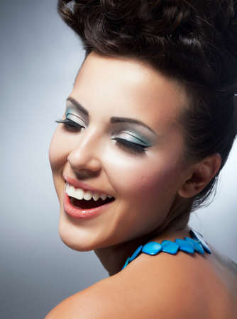 Bliss. Enjoyment. Cheerful Woman's Face with Happy Smile. Happiness & Felicity Stock Photo - 19147486