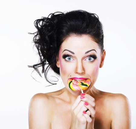 peppy: Ecstasy  Funny Peppy Woman with Yummy Lollipop