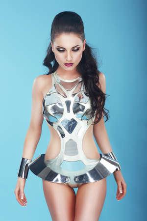stagy: Fantasy  Glam  Extravagant Woman in Stagy Art Costume
