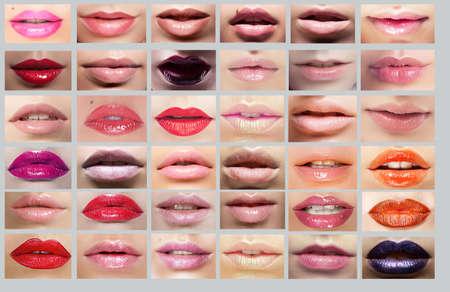 Lipstick  Great Variety of Women lips photo