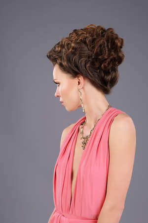 upsweep: Profile of Gorgeous Lady with Braided Hairs