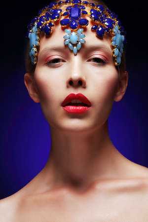 Artistic Female with Decoration - Diadem with Jewels photo
