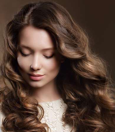 reverie: Young Woman with Brown Hair in Reverie