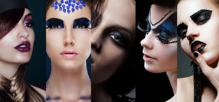 stagy: Beauty Collage. Women with Unusual Makeup