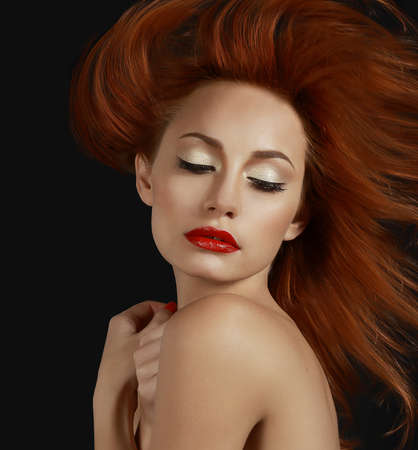desirable: Desirable Redhead woman with Red Lips