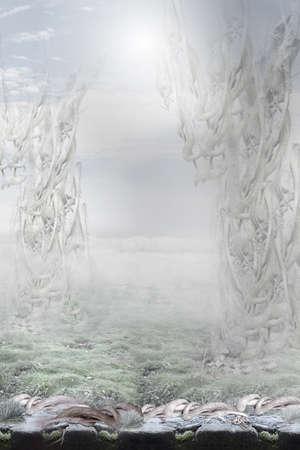 enigmatic: Fantasy. Enigmatic Surreal Background Stock Photo