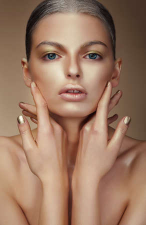 vogue style: Vogue Style. Young Woman with Bronzed Skin