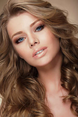 light complexion: Aristocratic Fashion Model with Healthy Perfect Hair