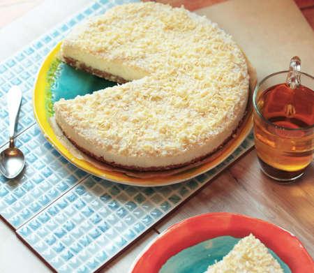 Pie. Cheesecake. Stock Photo