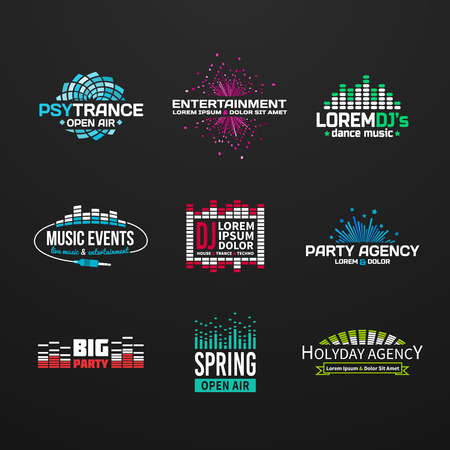 Tercer música elementos ecualizador emblema gama separados