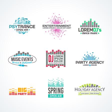 musica electronica: Tercer música elementos ecualizador emblema gama separados