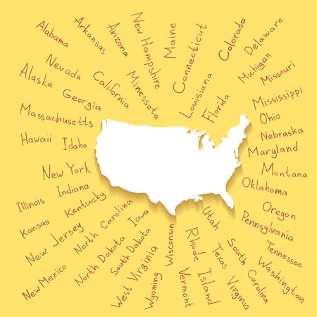 United States Map With Scale Royalty Free Cliparts Vectors And - Us map state names
