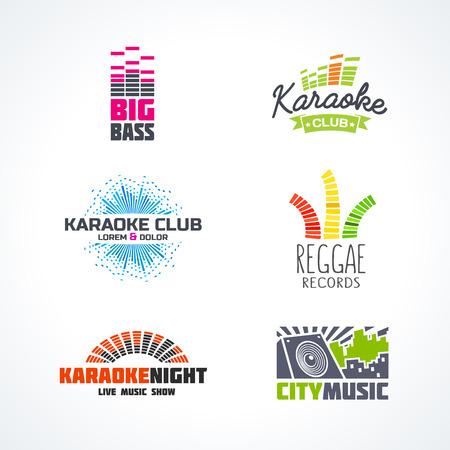 Fifth set of dj music equalizer  vector. Stock Illustratie