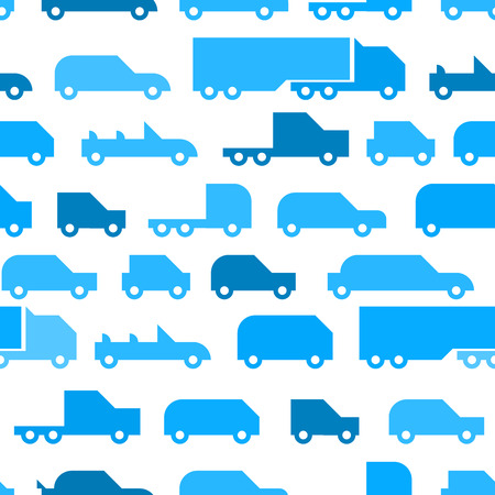 Flat with simple little cars vector seamless pattern texture