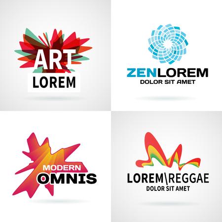reggae: Jeu de couleurs moderne embl�me abstraite des �l�ments de conception de vecteur Illustration