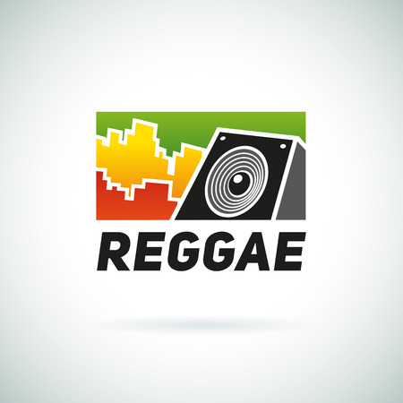 dub: Reggae music equalizer logo emblem vector design. Positive dub illustration. Illustration
