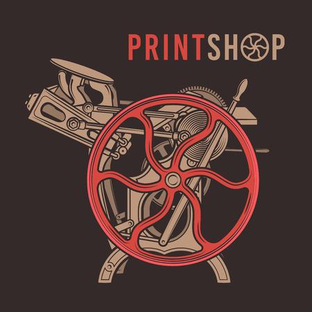 활판 인쇄 중복 인쇄 디자인. 일러스트
