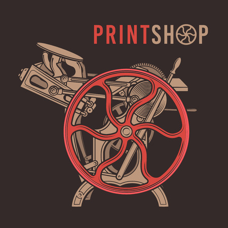 printshop: Letterpress overprint design.