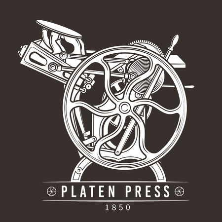 restored: Platen press illustration.