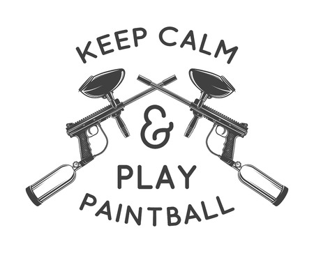 Paintball template. Paintballing poster design. Vector illustration
