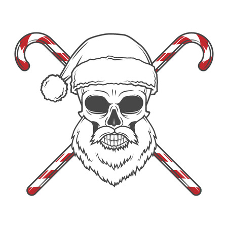 Bearded Skull King with Crown. Vintage Cruel tyrant portrait design. Royal t-shirt illustration. Old prince logo template. Illustration