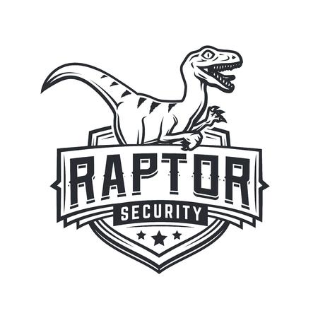jurassic: Raptor sport icon mascot design. Illustration